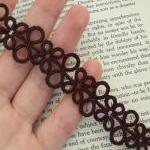 Brown Bookmark In Tatting