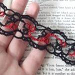 Gothic Black Red Lace Bookm..