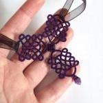 Gothic Purple Lace Necklace