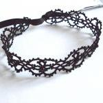 Gothic Beaded Lace Choker