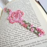 Pink Rose Lace Bookmark
