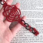 Gothic Bookmark In Tatting