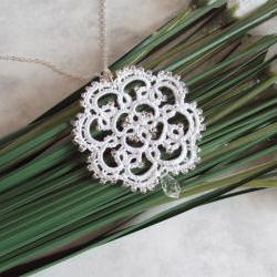 Beaded Lace Bridal Pendant